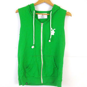 Dutch Bros sleeveless hoodie oregon coffee PNW M